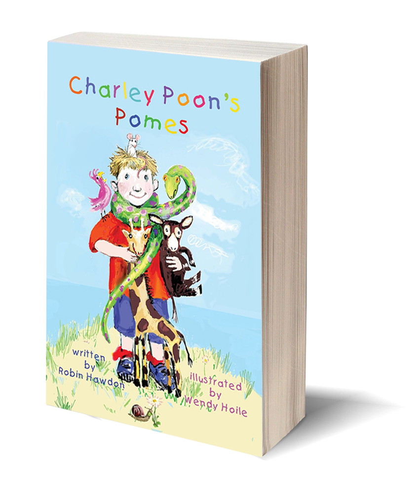 charly poons poems book cover image by robin hawdon
