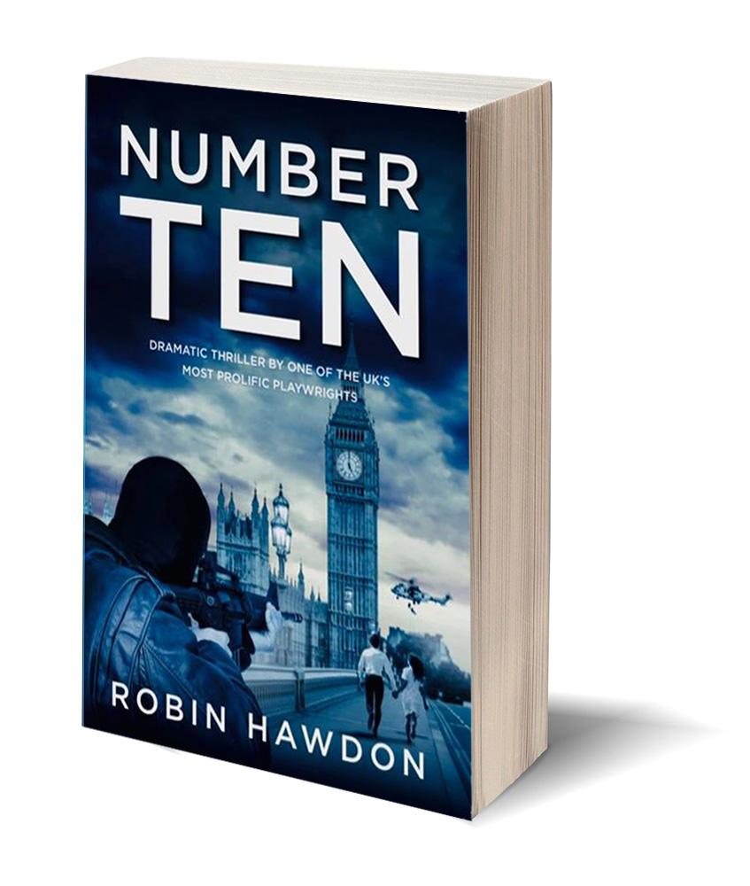 number ten political thriller novel book cover image by robin hawdon
